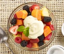 Fresh Fruit with Hazelnut Cream