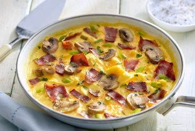 Turkey Bacon & Mushroom Omelet | Jennie-O® Turkey