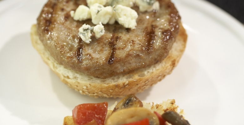 Mushroom Bleu Turkey Burgers