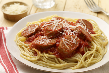 Spaghetti with Hot Italian Turkey Sausage | Nutritional Information ...