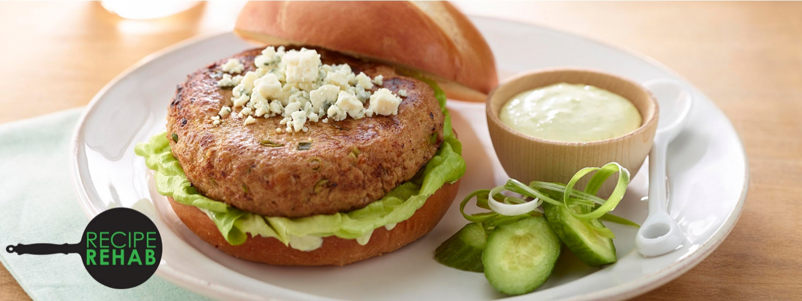 Recipe Rehab Horseradish Turkey Burgers