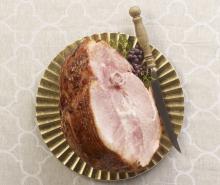 Cranberry Orange Glazed Ham