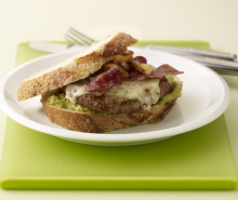 Jack and Guac Turkey Bacon Burger