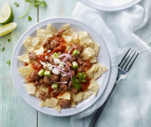 Turkey Breakfast Sausage Chilaquiles