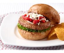 Roasted Pepper Turkey Burgers