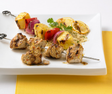 Lemon Garlic Turkey Kabobs