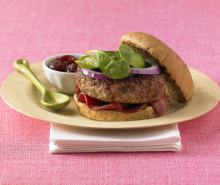 Cranberry Glazed Turkey Burgers