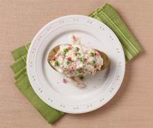 Creamy Turkey over Potatoes