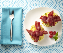 Breakfast Turkey Bacon Bites