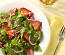Turkey Bacon Spinach & Strawberry Salad
