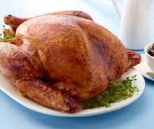 Roasted Turkey with Cranberry Chutney