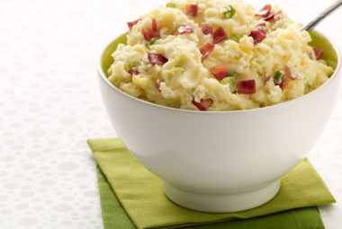 Cheddar Mashed Potatoes & Turkey Bacon | Nutritional Information ...