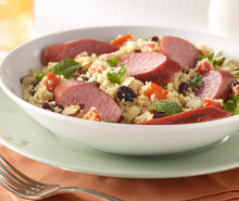 Warm Turkey Sausage & Couscous Salad