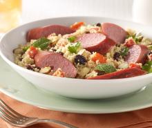 Warm Turkey Sausage & Couscous Salad