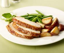 Turkey Roast with Peas & Potatoes