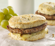 Turkey Sausage & Biscuit Sandwich