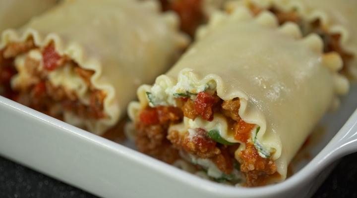 Spicy Turkey Lasagna Rollers