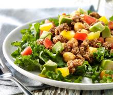 Turkey Kale Taco Salad