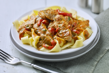 Roast Pepper & Turkey Stroganoff