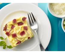 Turkey Bacon Linguine Carbonara