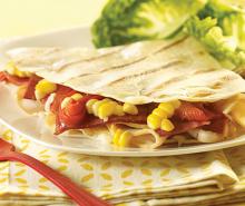 Corn & Turkey Quesadillas