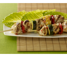 Grilled Turkey and Vegetable Kabobs