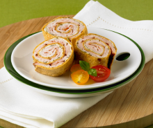 Pesto Turkey Pinwheels