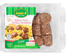 Fully Cooked Italian Style Turkey Meatballs.