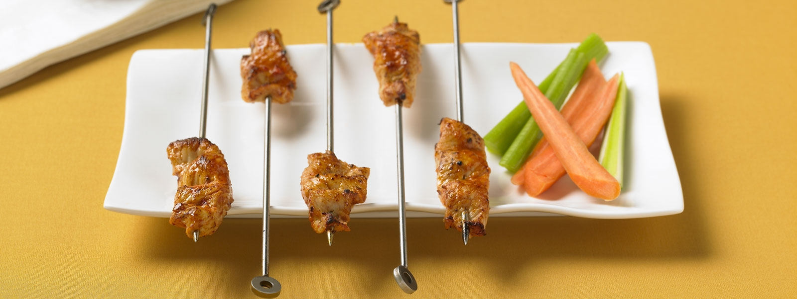 Buffalo Turkey Skewers