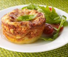 Turkey Lasagna Cupcakes
