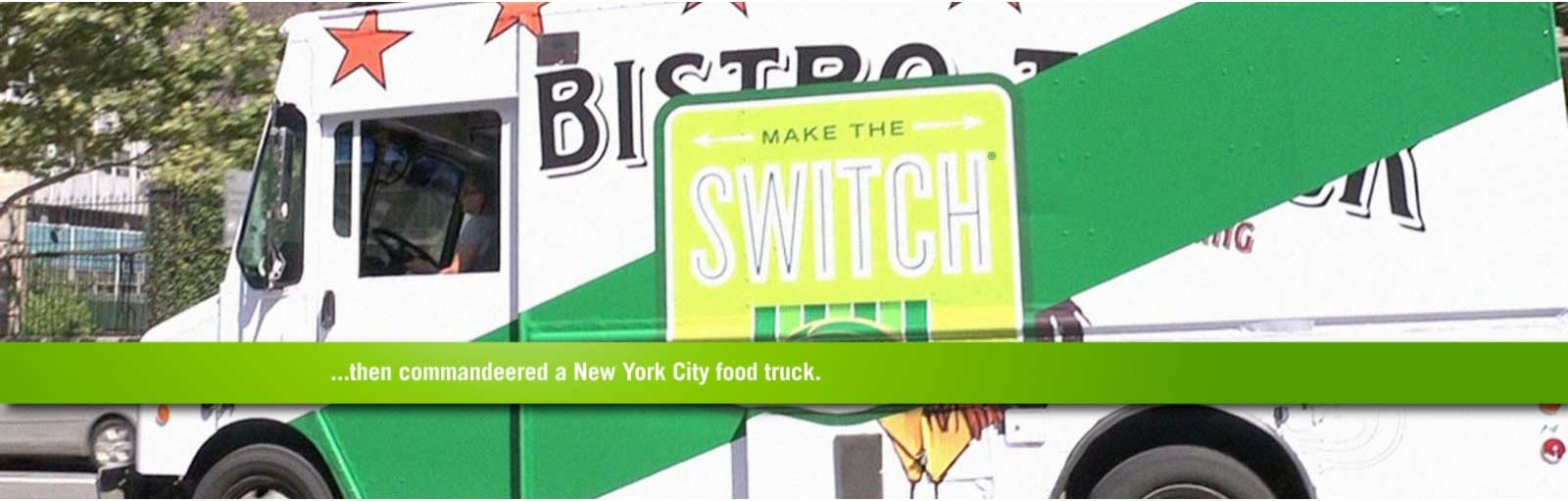 ...then commandeered a New York food truck.