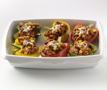 Confetti Turkey Stuffed Peppers