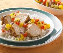 Grilled Turkey with Pineapple Citrus Relish