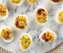 Deviled Eggs with Bacon & BBQ