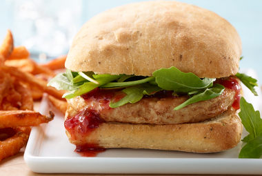Turkey Burger with Chipotle Cranberry Relish | Jennie-O® Turkey