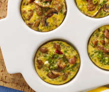 Turkey Sausage Mini Quiche