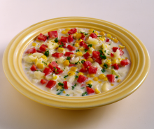 Turkey Ham & Corn Chowder