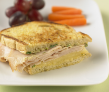 Grilled Turkey & Swiss Sandwich