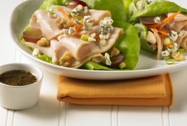 Turkey Salad on Spring Greens 