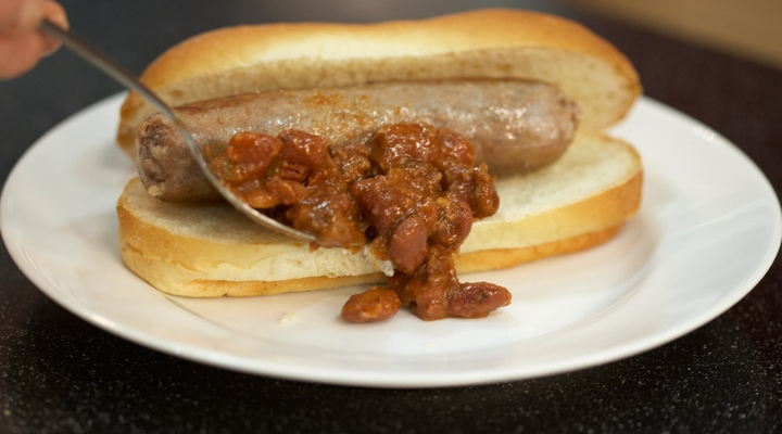Chili Cheese Turkey Brats