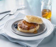Honey Kissed Turkey Sausage Biscuit