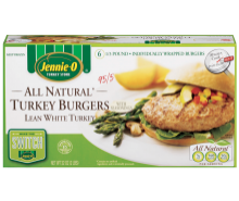 All Natural Turkey Burgers - Made from Lean White Meat