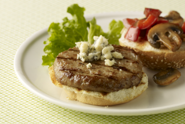 Mushroom Bleu Turkey Burgers