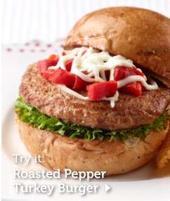 Roasted Pepper Turkey Burger