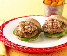 Bacon, Mushroom & Cheese Turkey Burgers