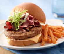 Turkey Burger with Pastrami