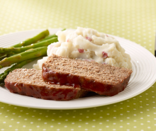 Turkey Meatloaf with Mashed Potatoes & Asparagus