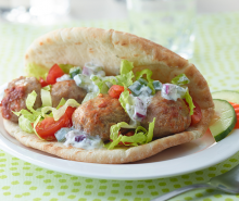 Turkey Meatball Gyros