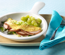 Cajun Turkey, Asparagus & Brie Cheese Omelet