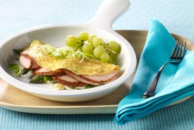 Turkey, Asparagus & Brie Omelet